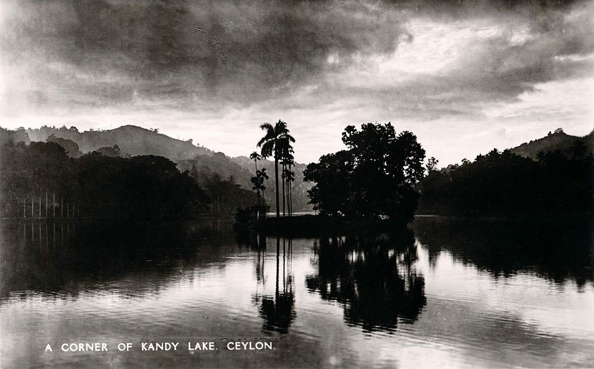 A Corner of Kandy Lake, Ceylon