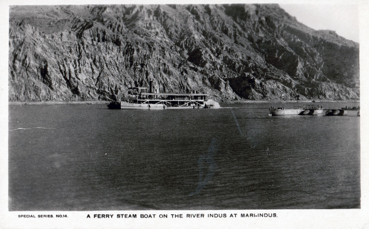 A Ferry Steam Boat on the River Indus at Mari-Indus
