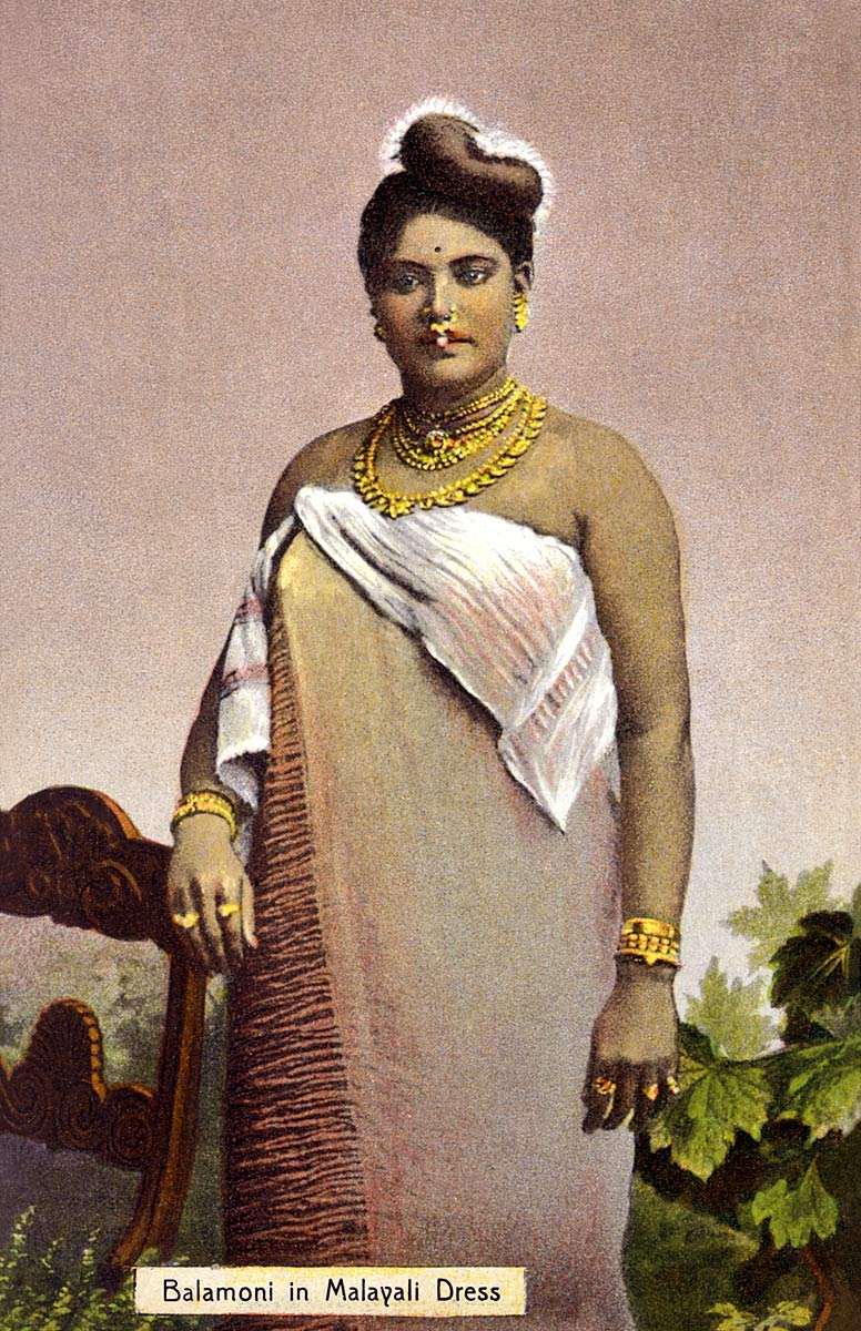 Balamoni in Malayali Dress