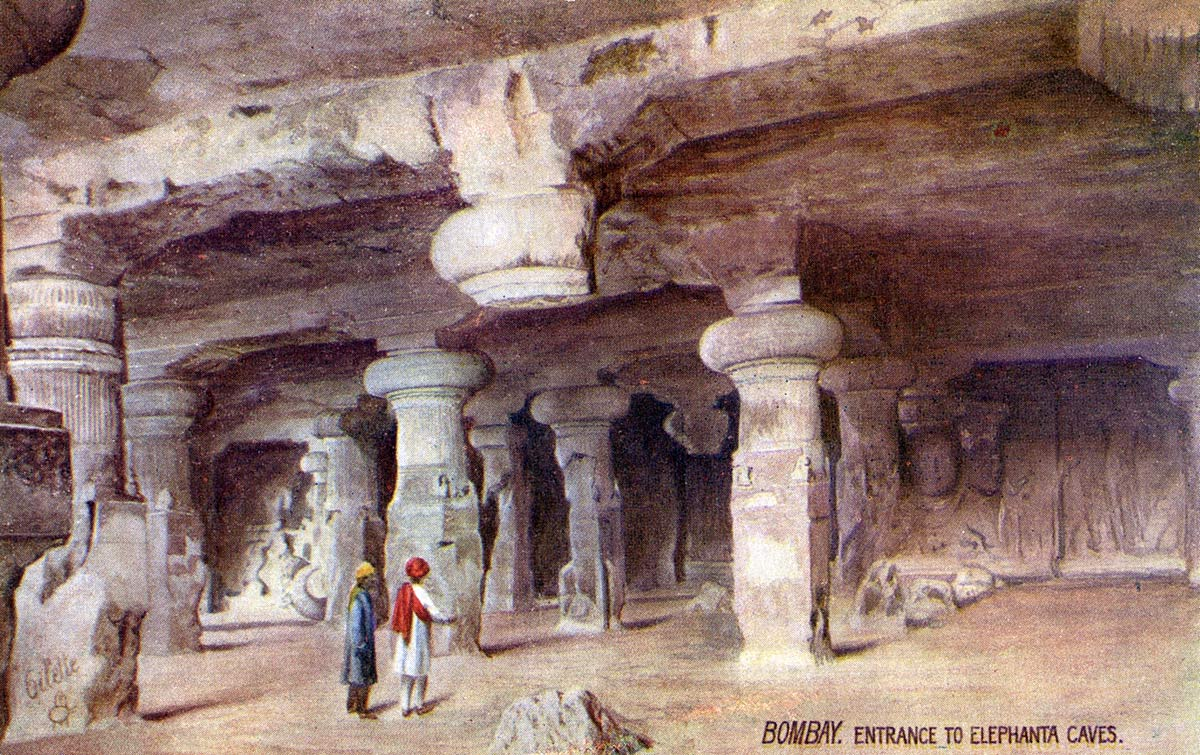 Bombay, Entrance To Elephanta Caves