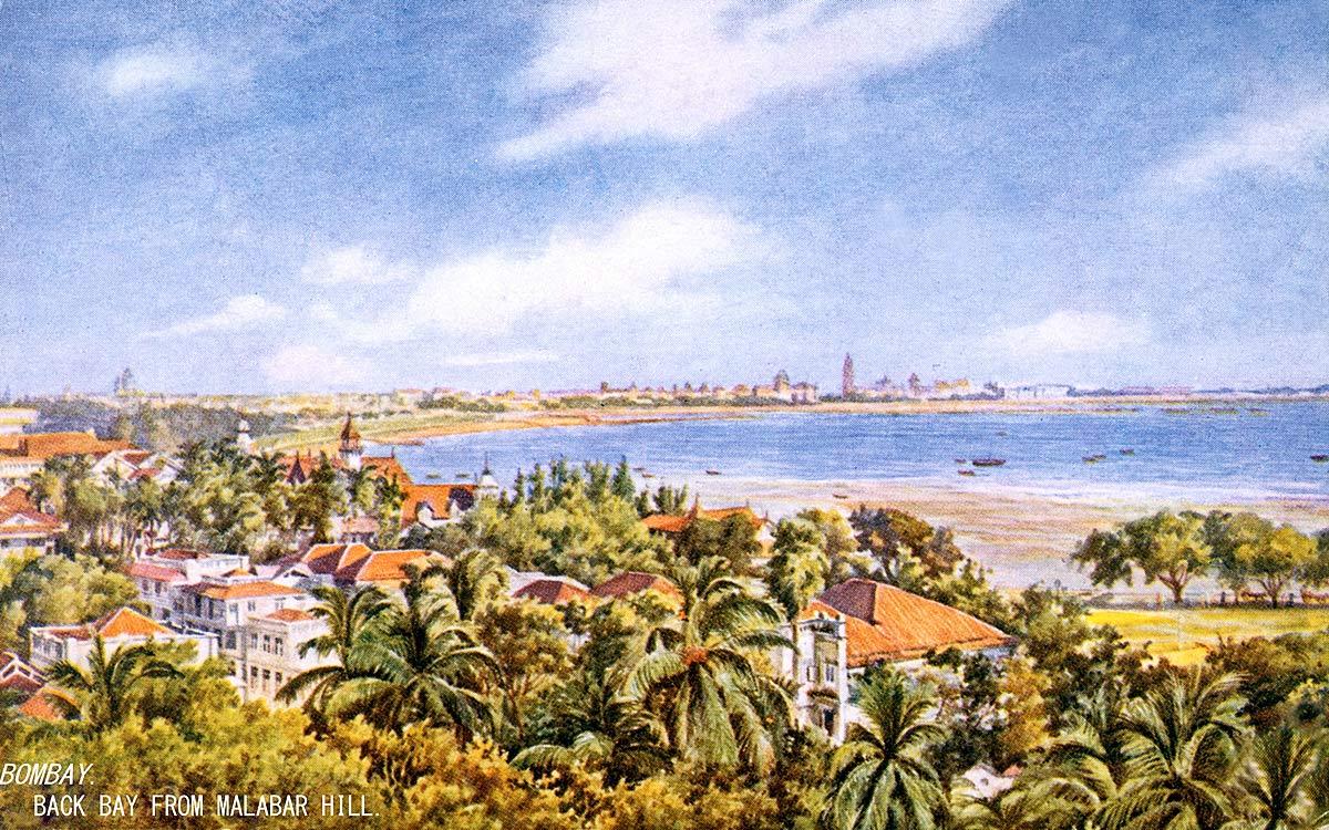 Bombay. Back Bay from Malabar Hill