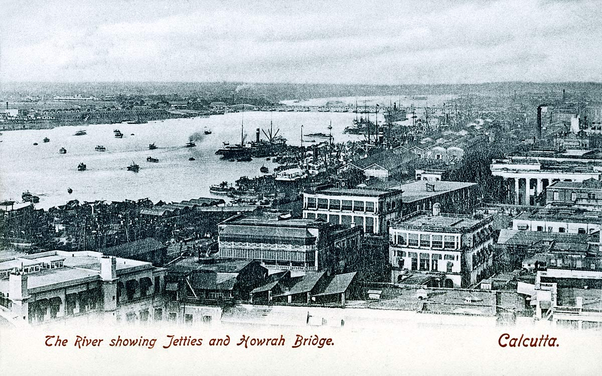 The River showing Jetties and Howrah Bridge