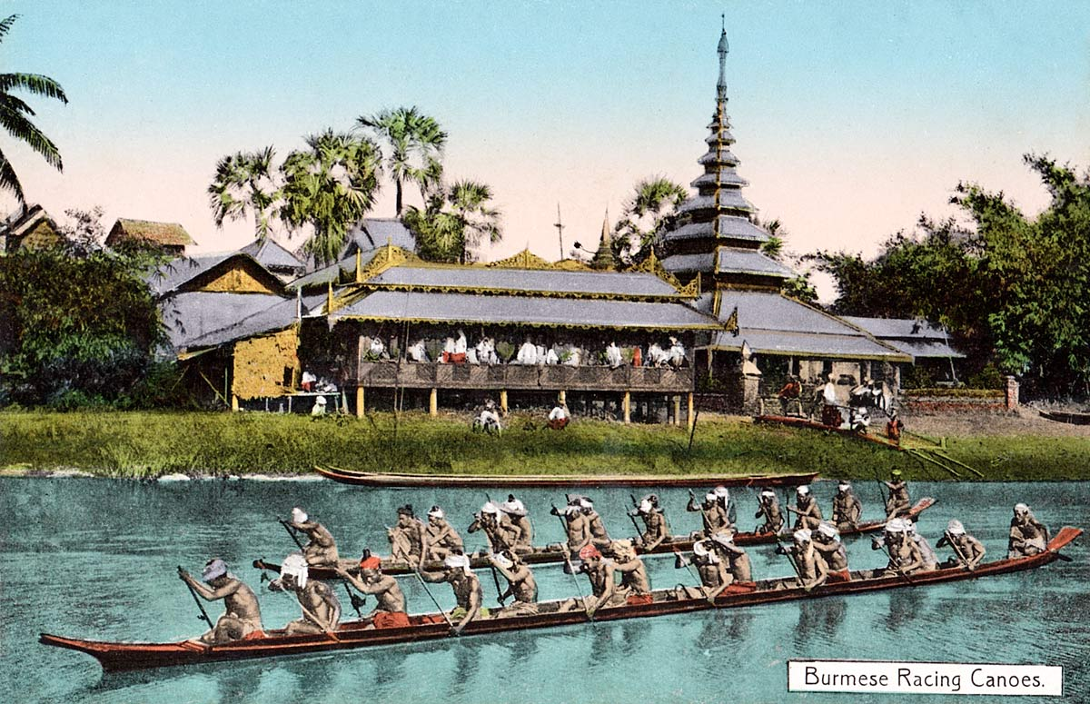 Burmese Racing Canoes