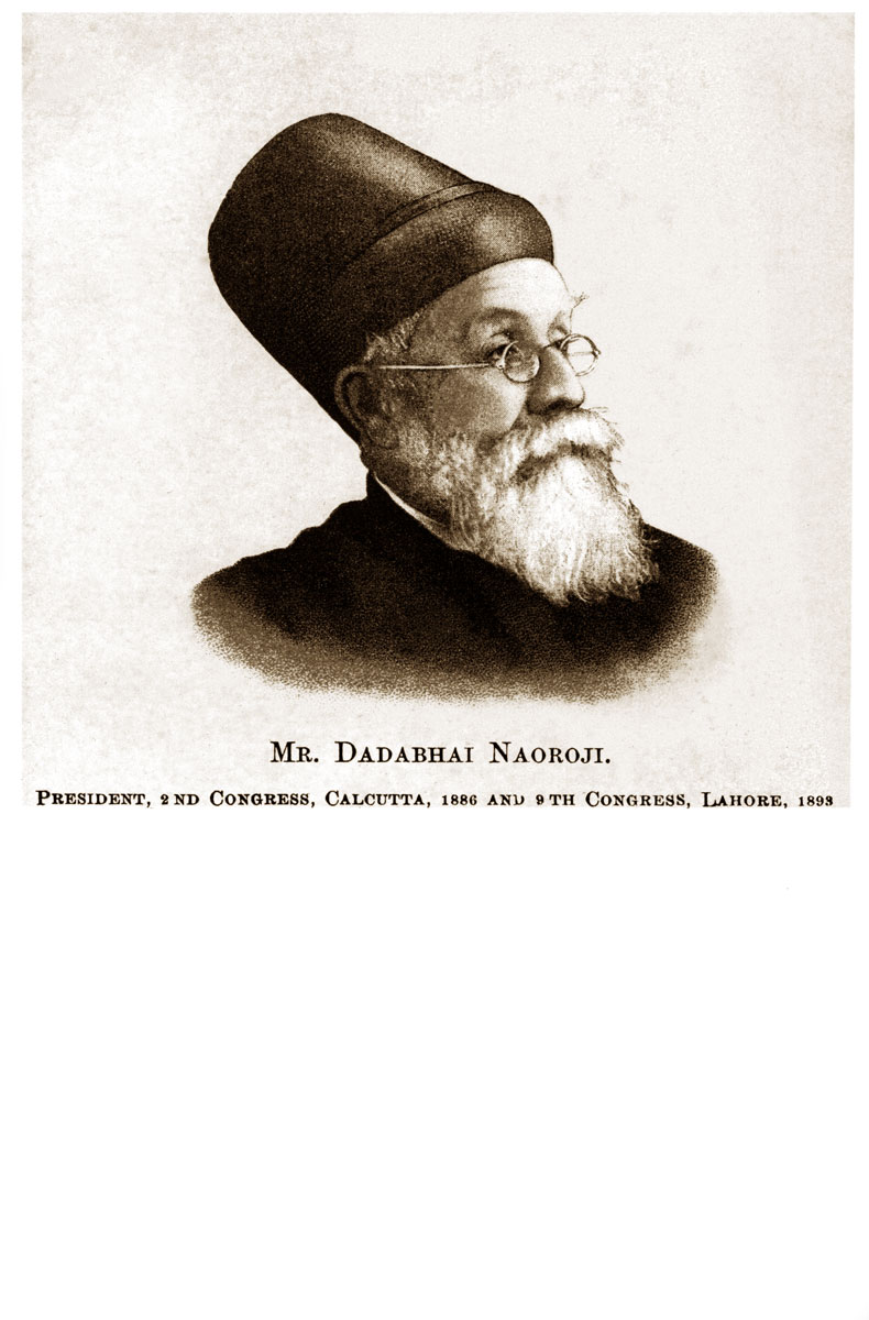 Mr. Dadabhai Naoroji, President, 2nd Congress, Calcutta 1886 and 9th Congress, Lahore, 1893