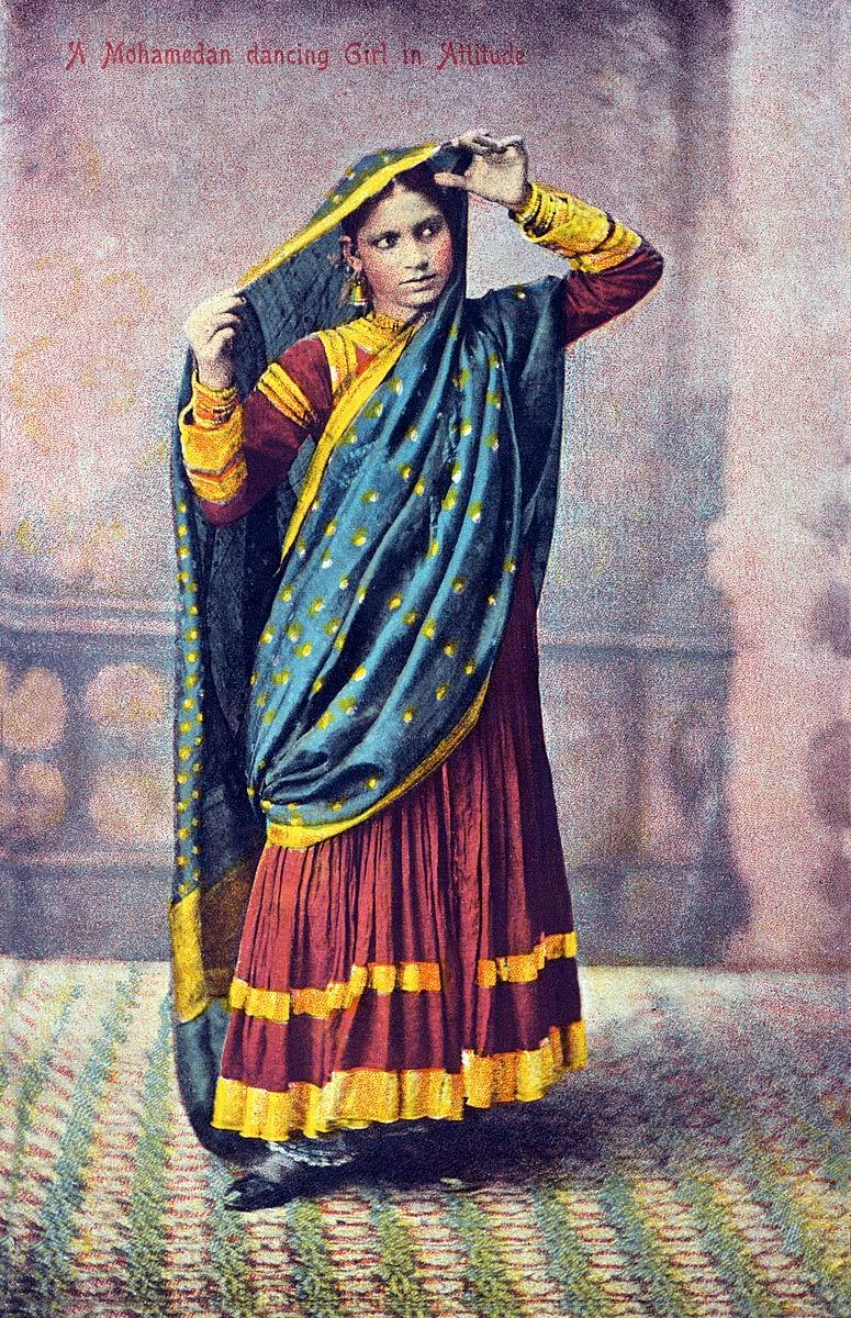 A Mohamedan dancing Girl in Attitude
