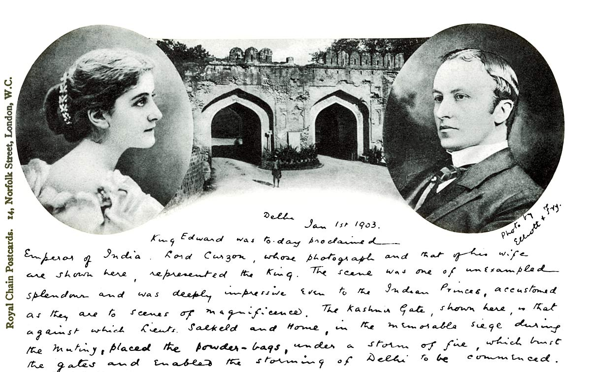 [Lord and Lady Curzon, Kashmir Gate]