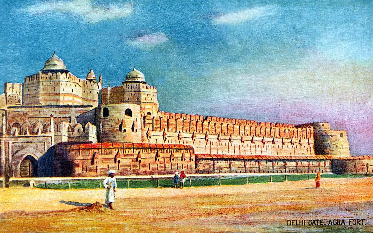 Delhi Gate. Agra Fort.