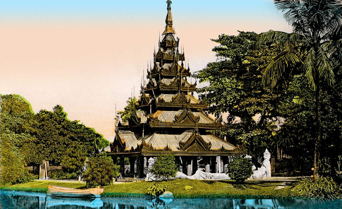 Calcutta. Burmese Pagoda Eden Gardens.