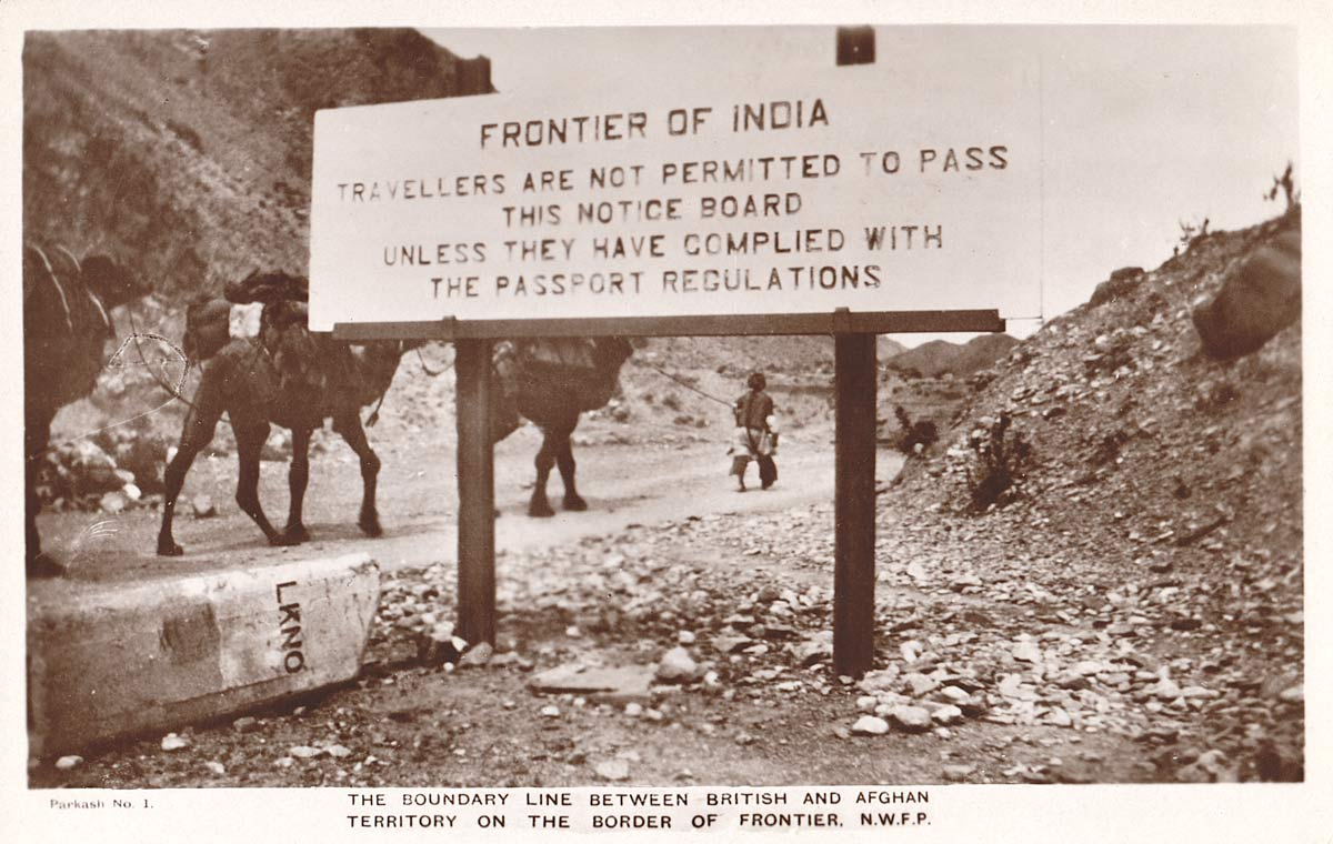 The Boundary Line Between the British and Afghan Territory on the Border of Frontier, N.W.F.P.