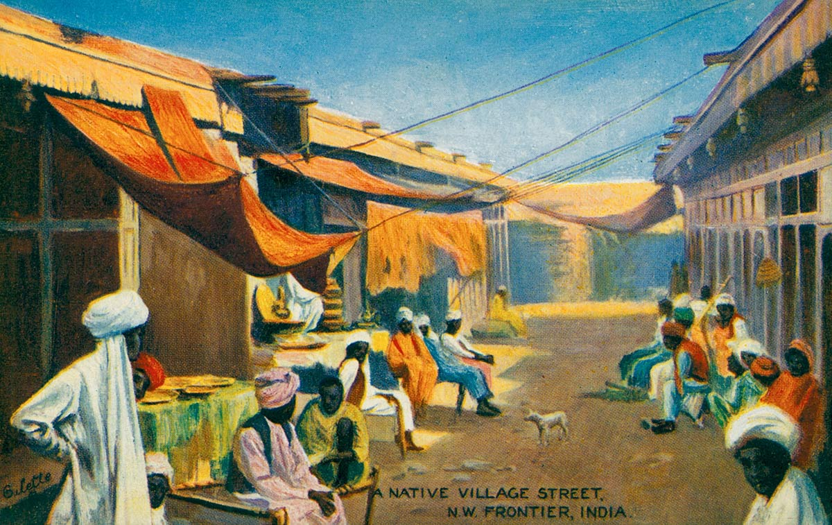 Native Village Street N.W. Frontier, India
