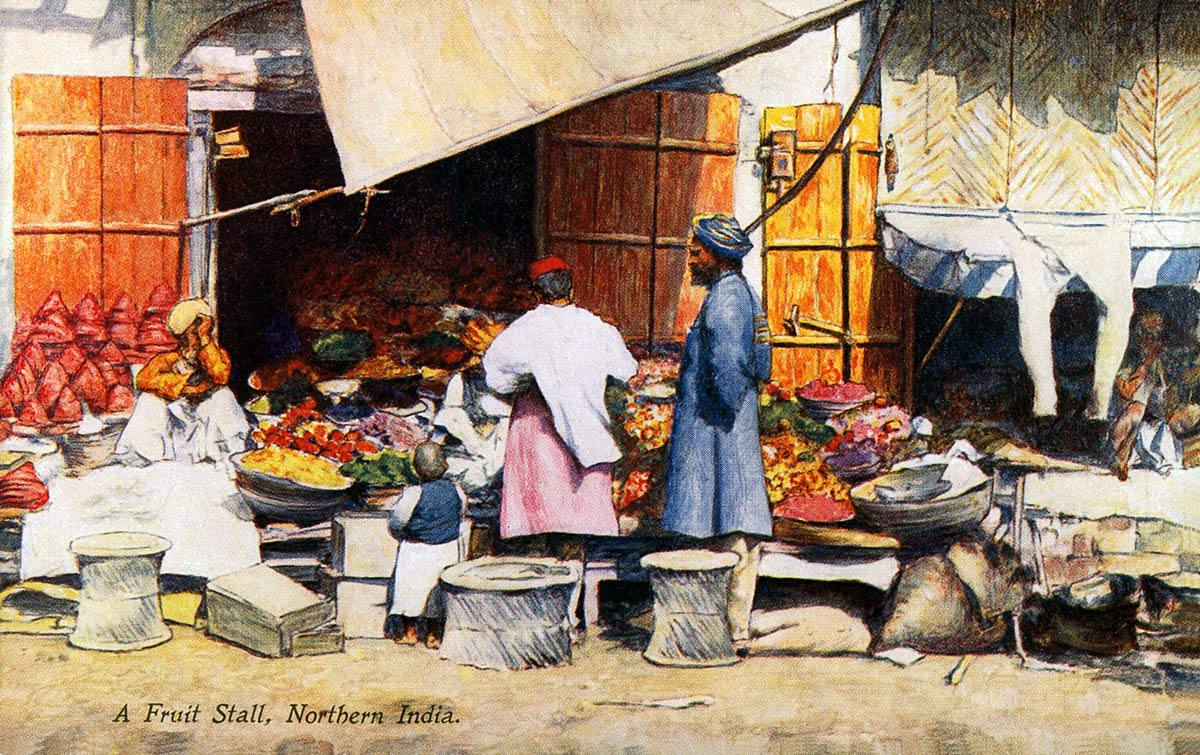 A Fruit Stall, Northern India