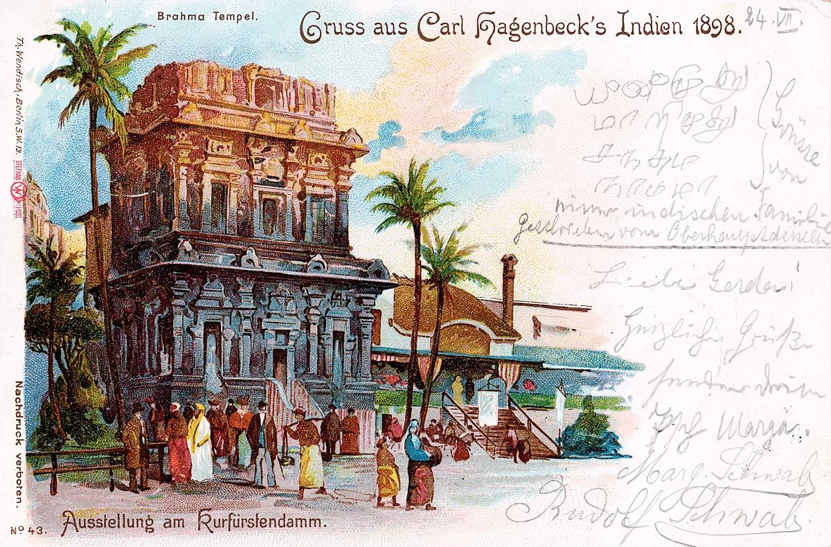 Gruss aus Carl Hagenbeck's Indien 1898