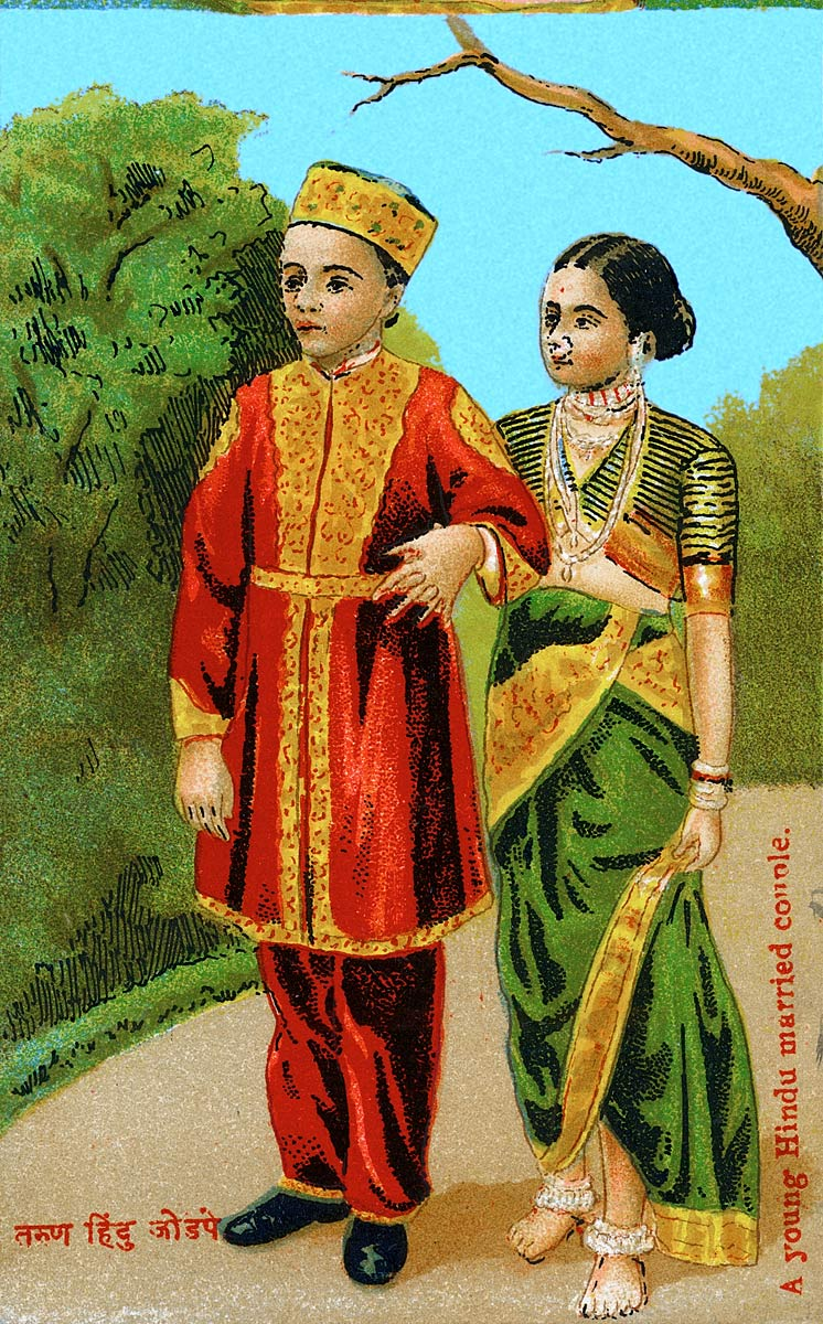 A young Hindu married couple.
