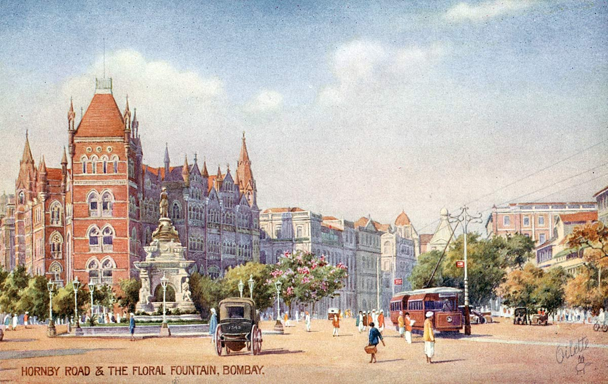Hornby Road & the Floral Fountain, Bombay [message]