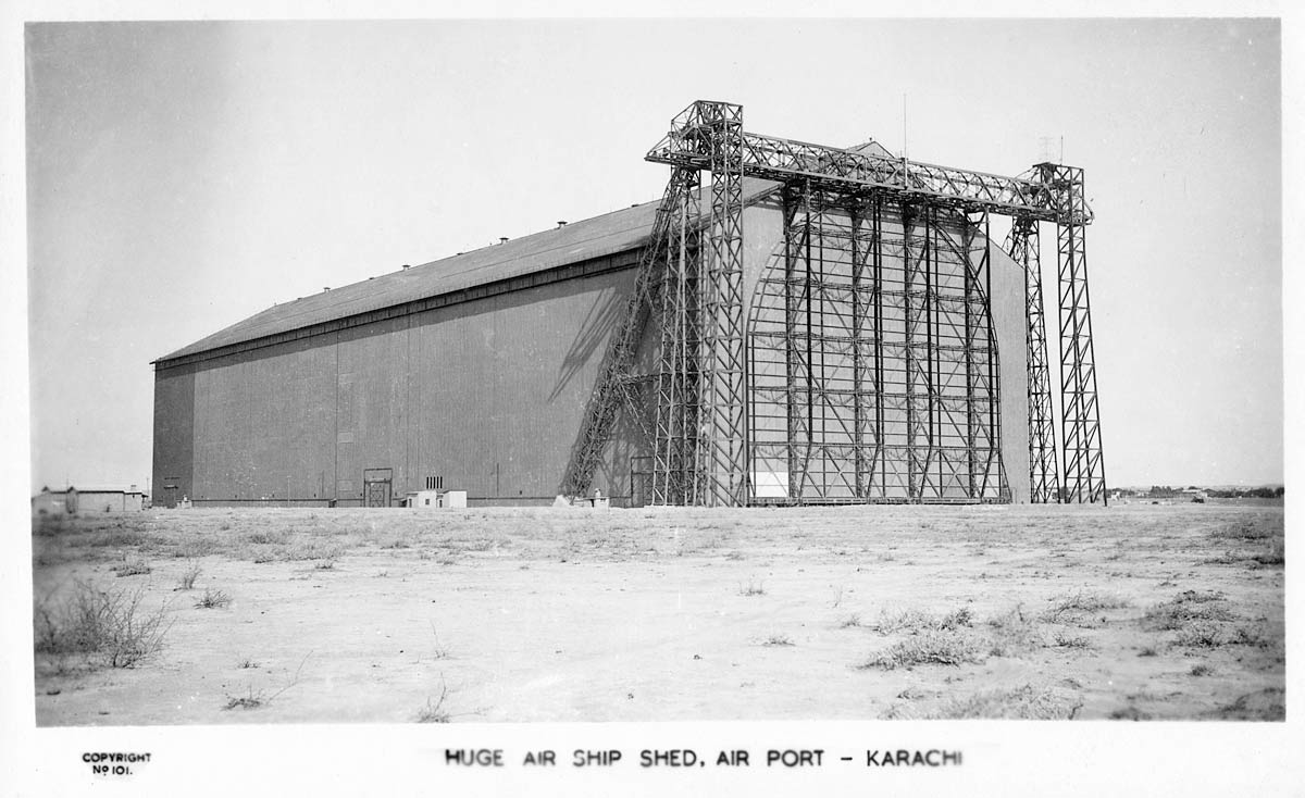 Huge Airship Shed, Airport - Karachi