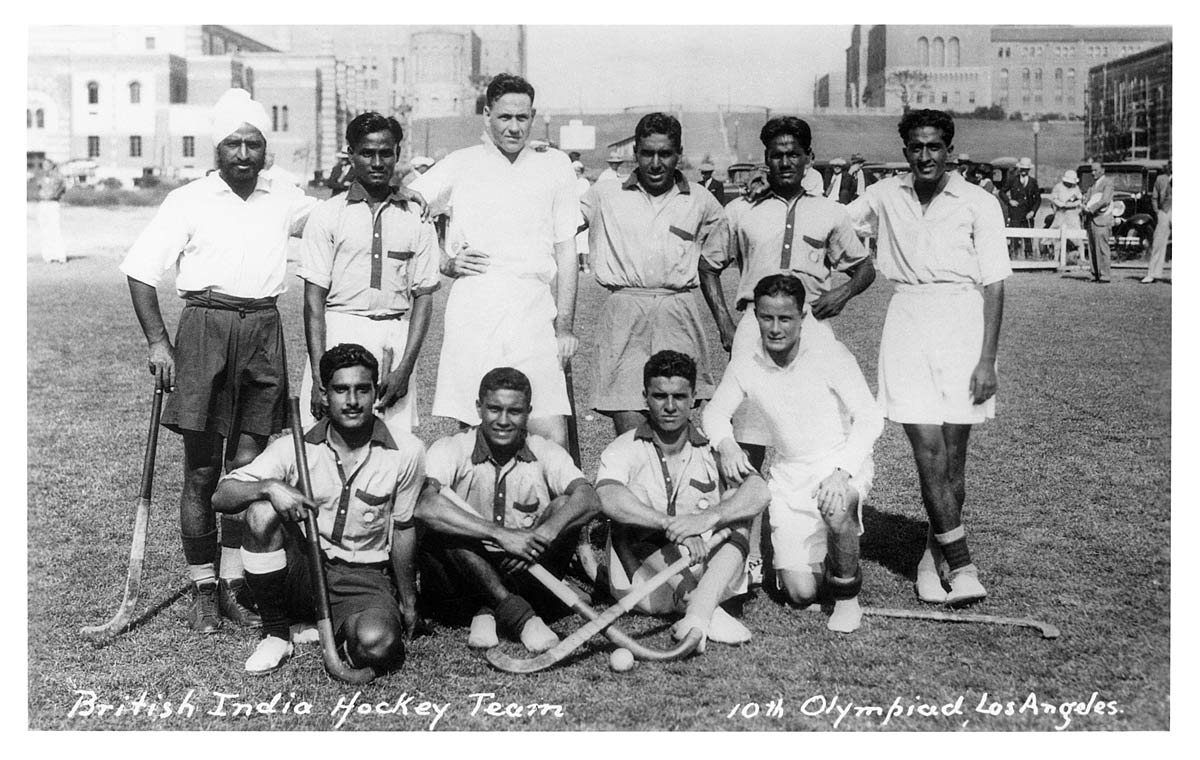 British India Hockey Team 10th Olympiad Los Angeles