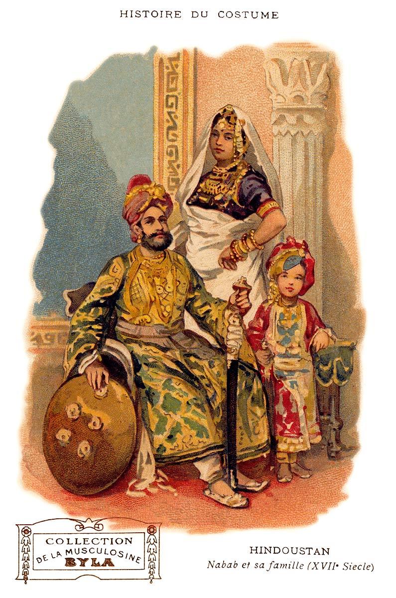 Hindustan Nawab and his family (17th Century)