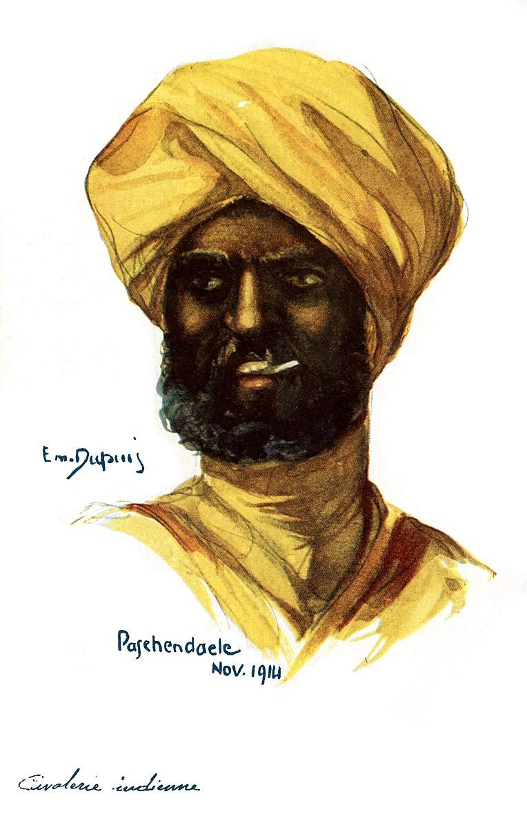 Paschendaele Nov. 1914 Cavaliere indienne [Indian Cavalry]