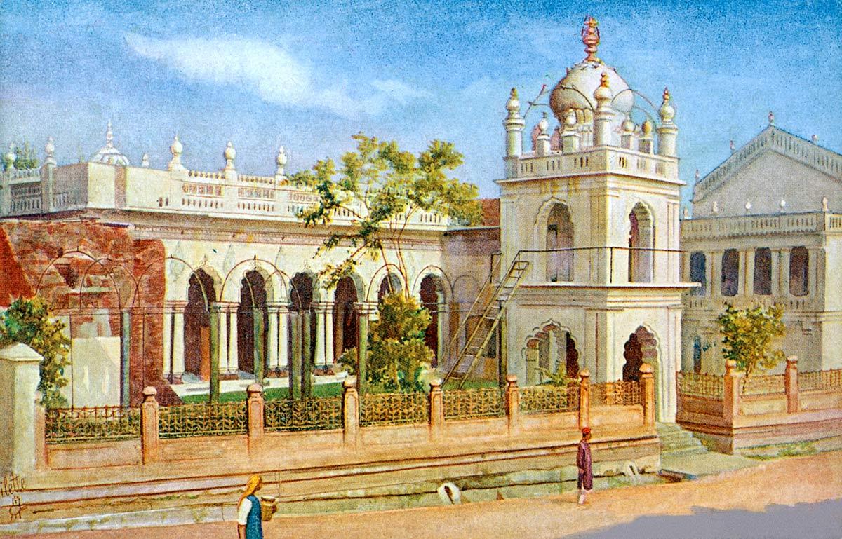 Bangalore. The Jumma Masjid Old Poor House Road.