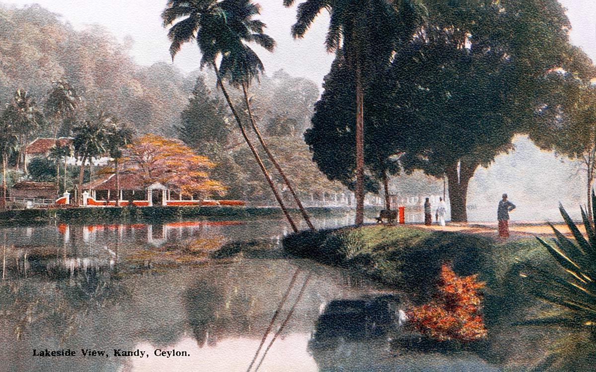 Lakeside View, Kandy, Ceylon.