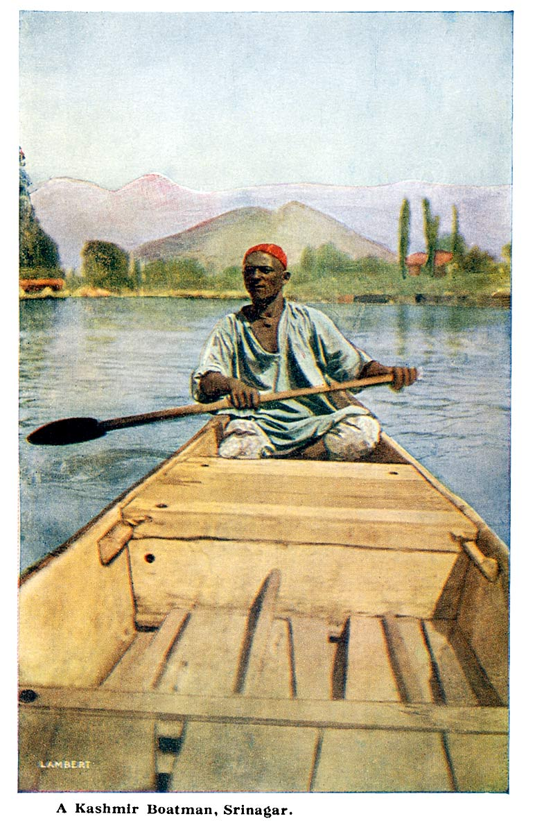 A Kashmir Boatman, Srinagar