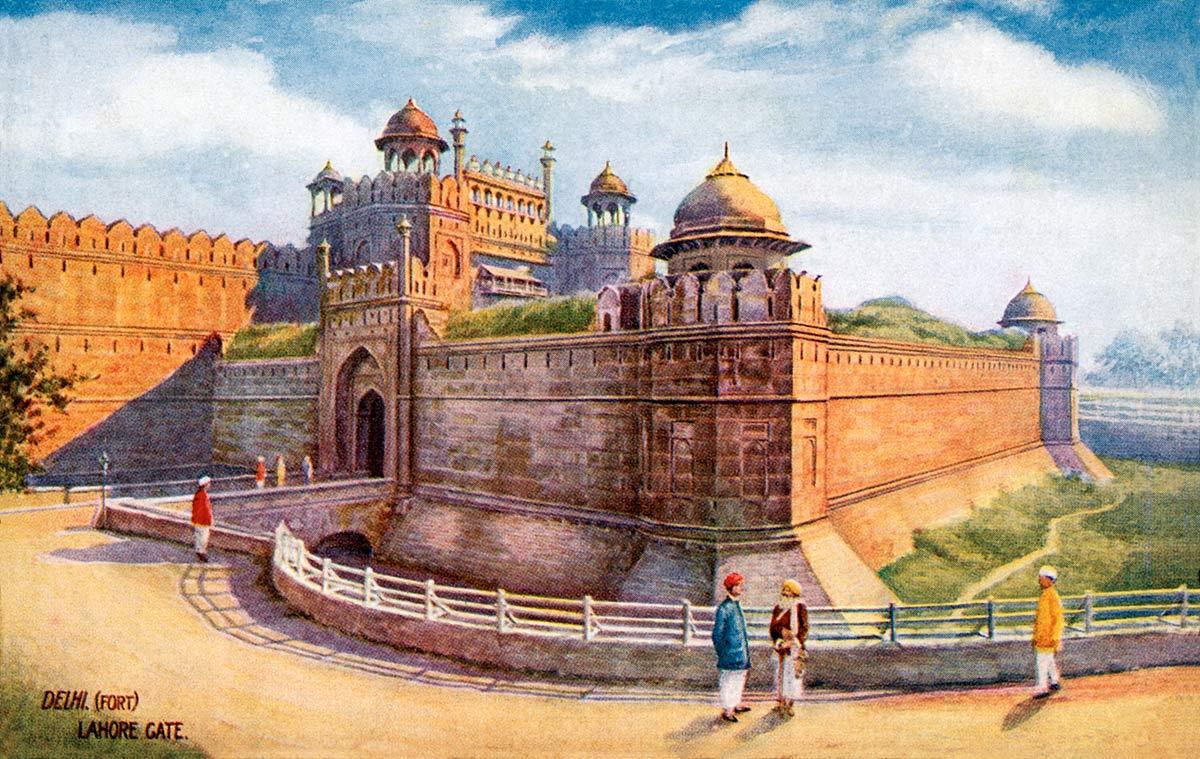 Delhi (Fort) Lahore Gate.