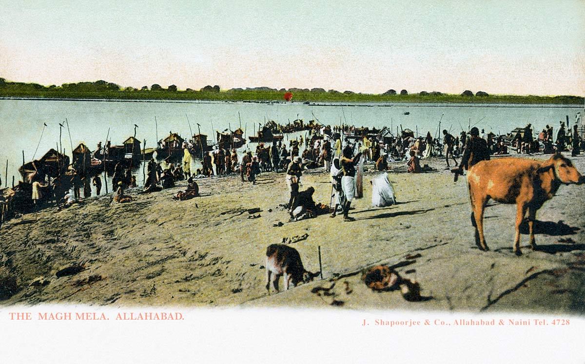 The Magh Mela. Allahabad