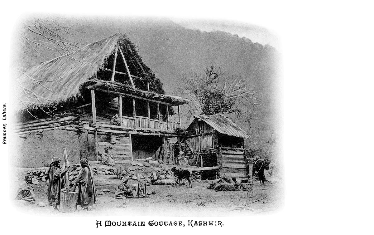 A Mountain Cottage, Kashmir