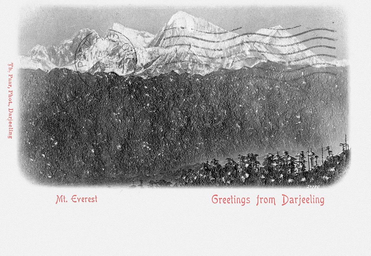 Mt. Everest, Greetings from Darjeeling