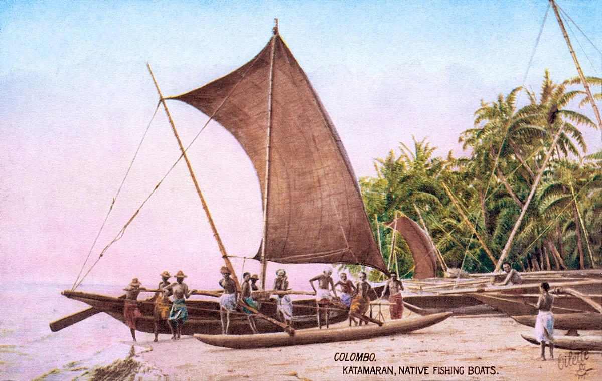 Colombo. Katamaran, Native Fishing Boat