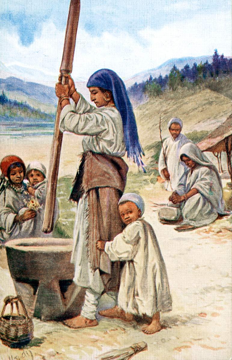 Pounding Grain in Kashmir