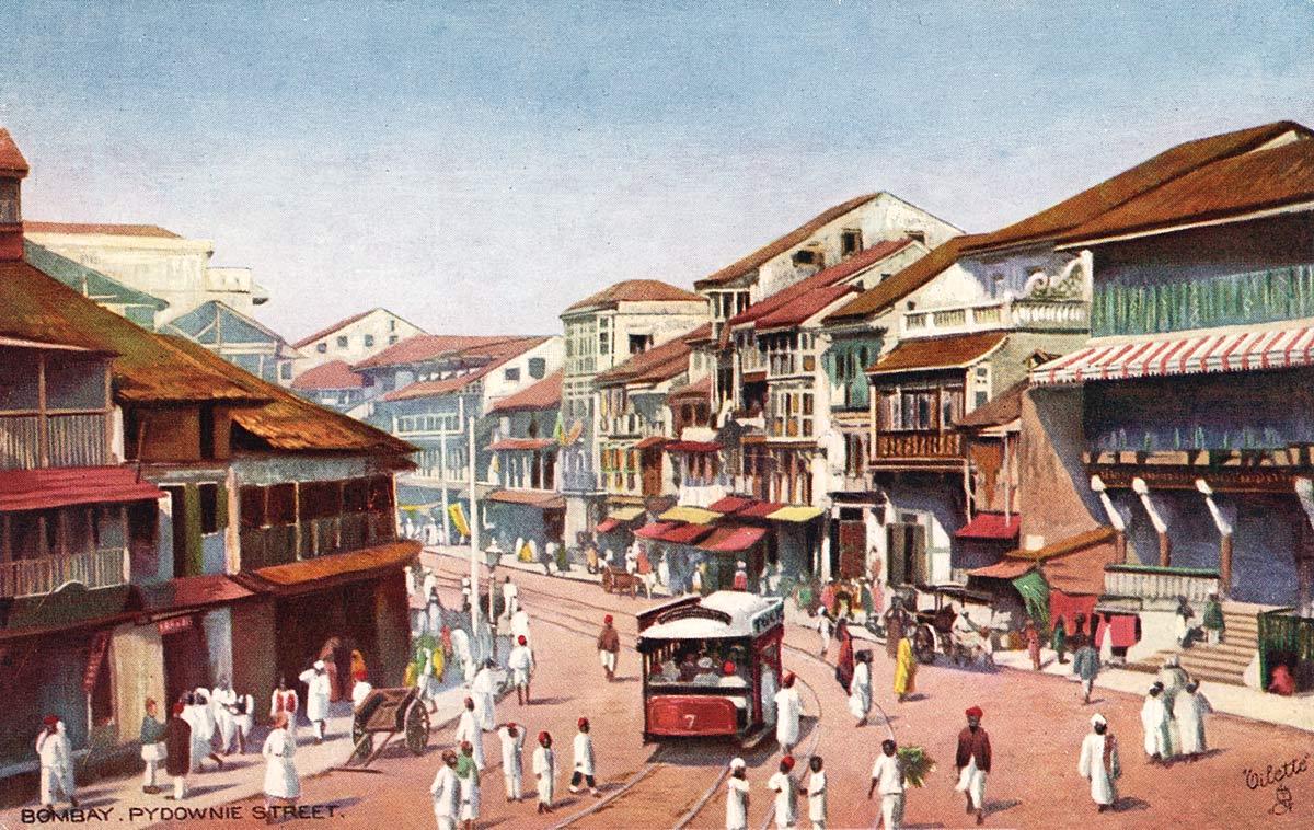 Bombay. Pydownie Street.