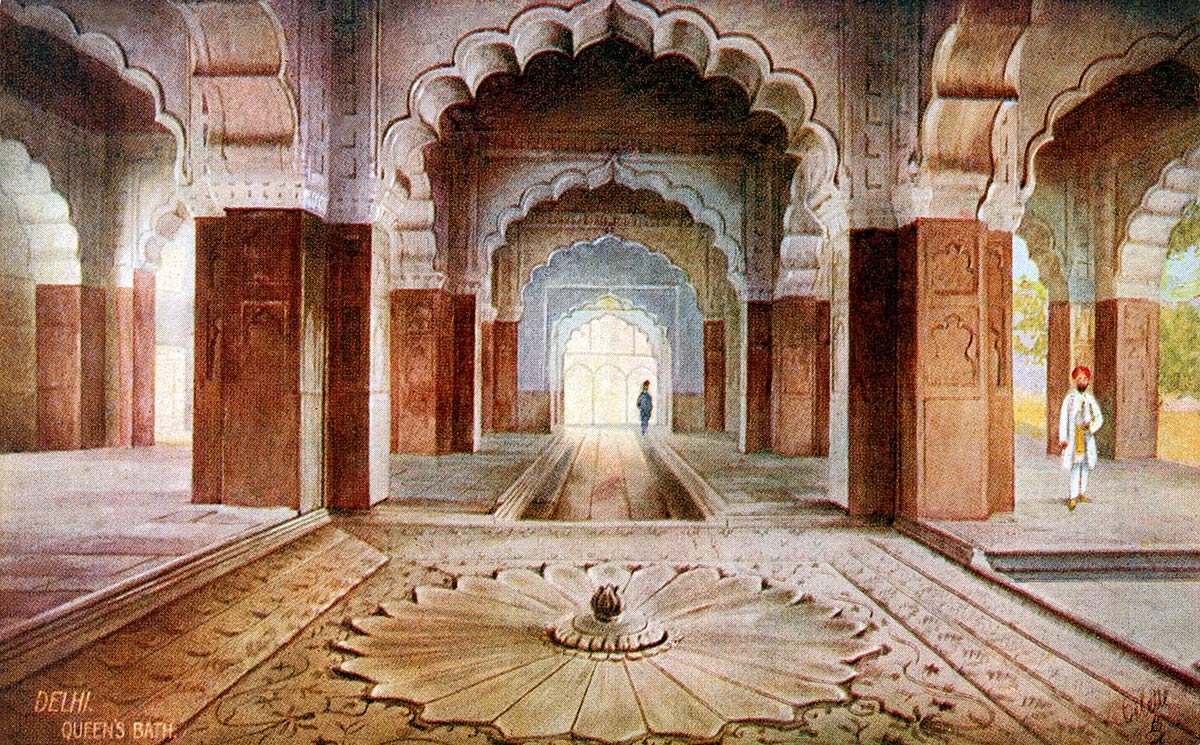 Delhi. Queen's Bath