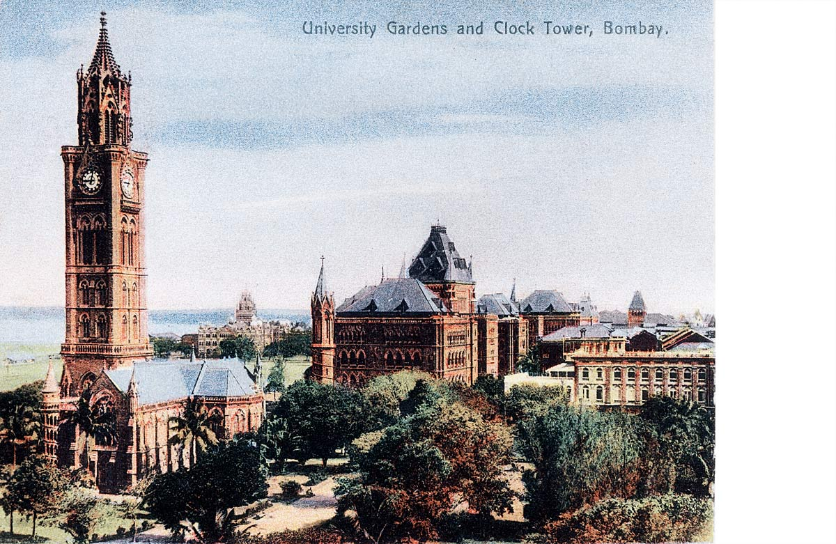 University Gardens and Clock Tower, Bombay