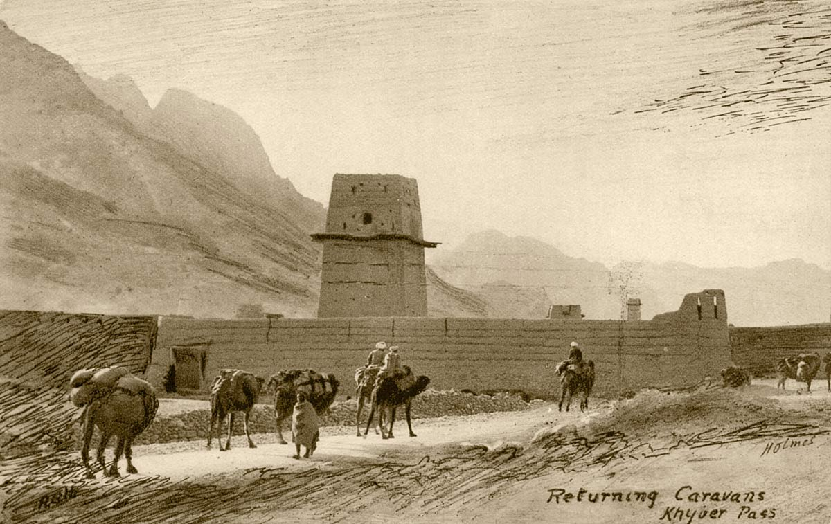 Returning Caravans Khyber Pass