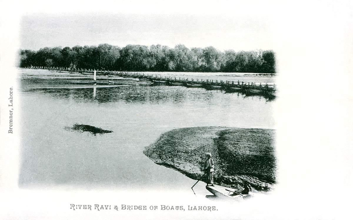 River Ravi & Bridges of Boats, Lahore