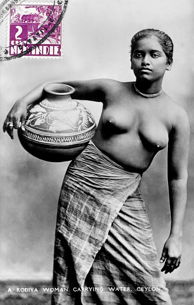 A Rodiya Woman Carrying Water, Ceylon