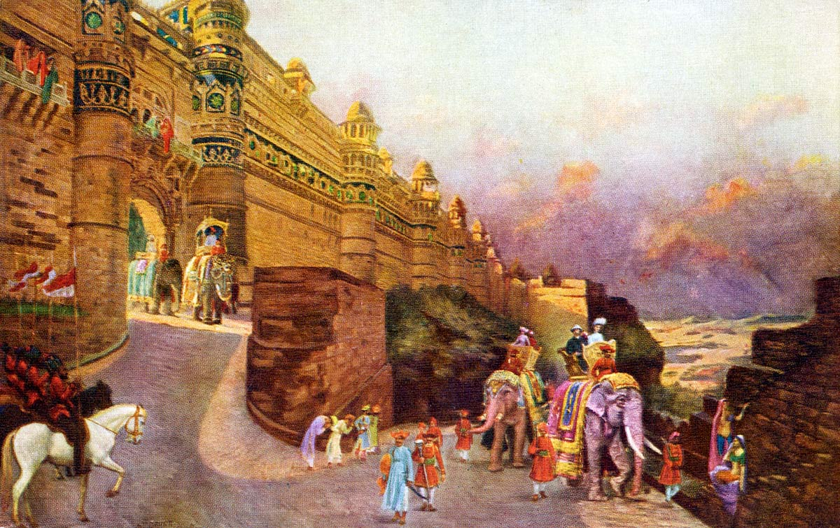 Royal Visit at Gwalior, on Jan 1905