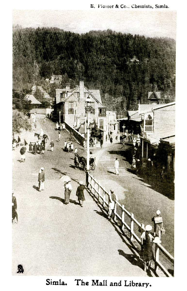Simla. The Mall and Library.