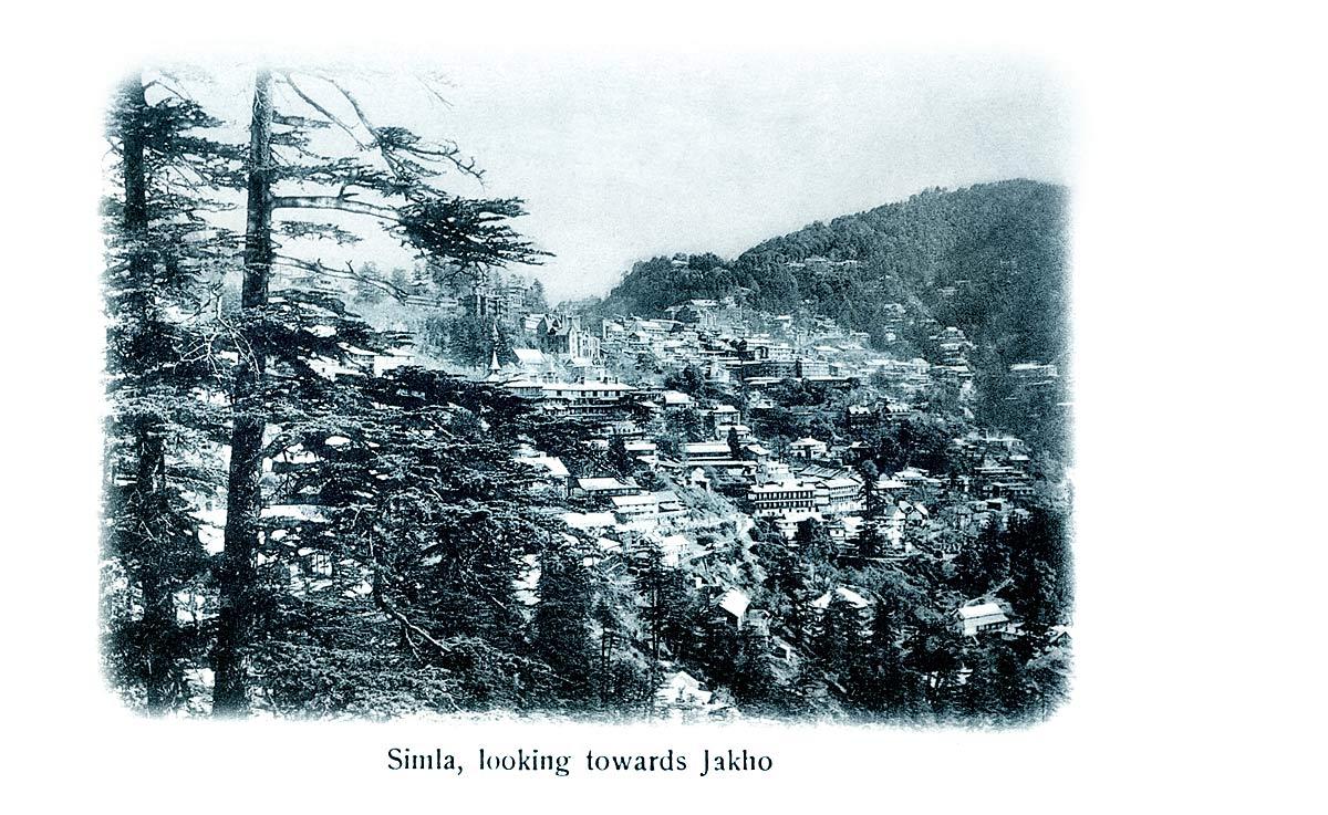 Simla, looking towards Jakho