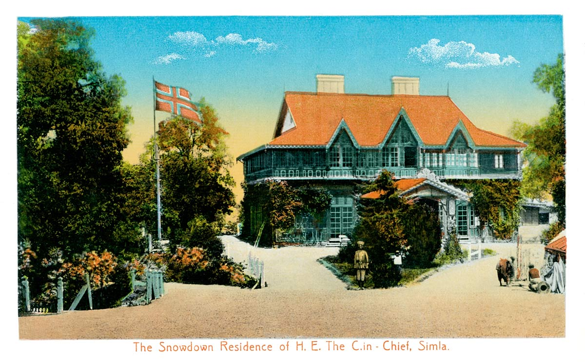 The Snowdown Residence, Simla of H.E. The C. in - Chief, Simla