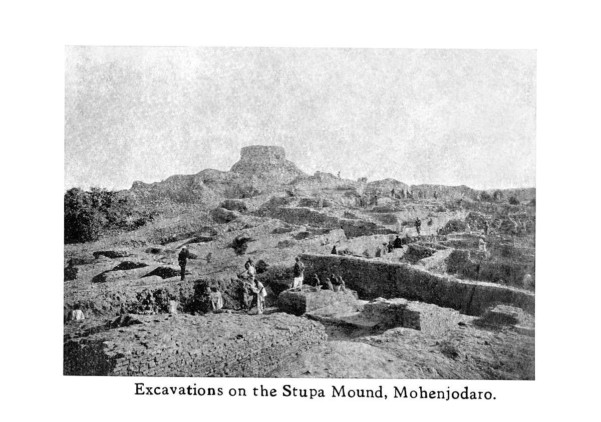 Excavations on the Stupa Mound, Mohenjodaro