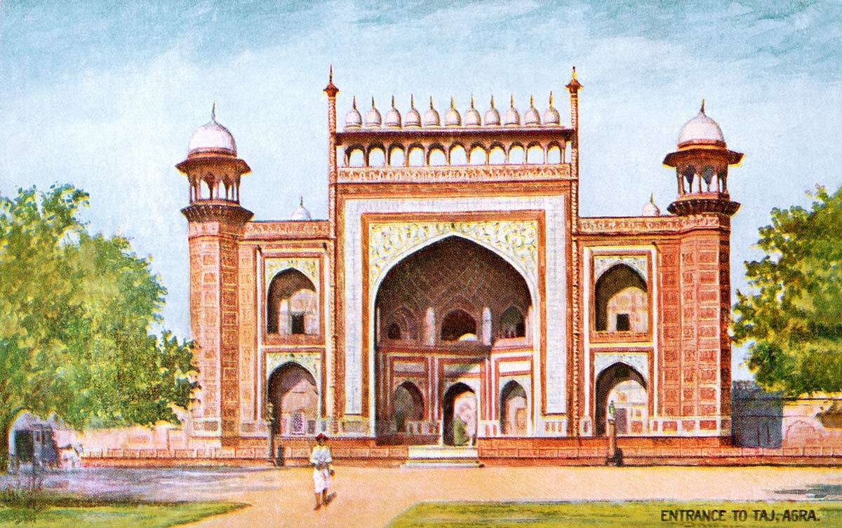 Entrance to Taj, Agra