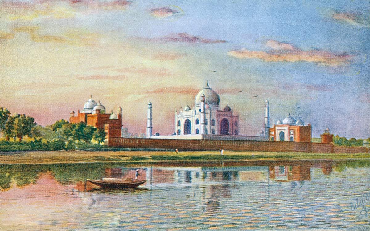 The Taj, (From Across The River) Agra