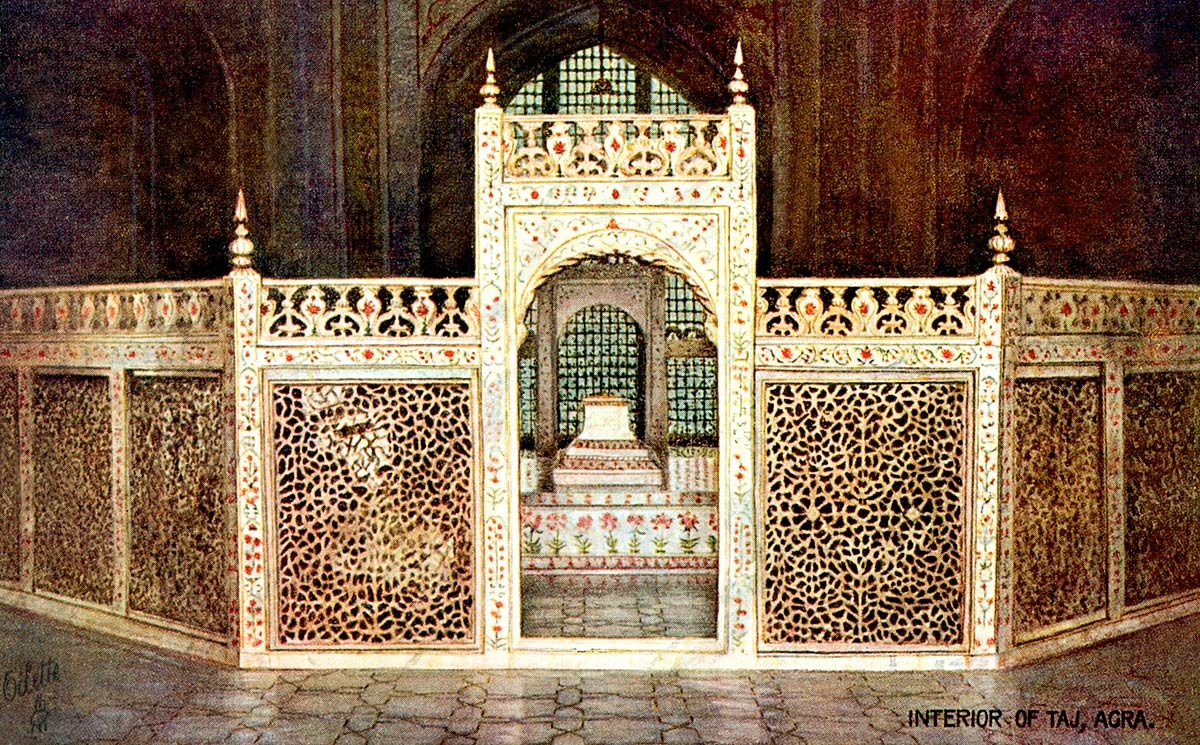 Interior of Taj, Agra