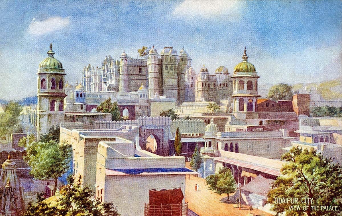 Udaipur City. View of the palace.