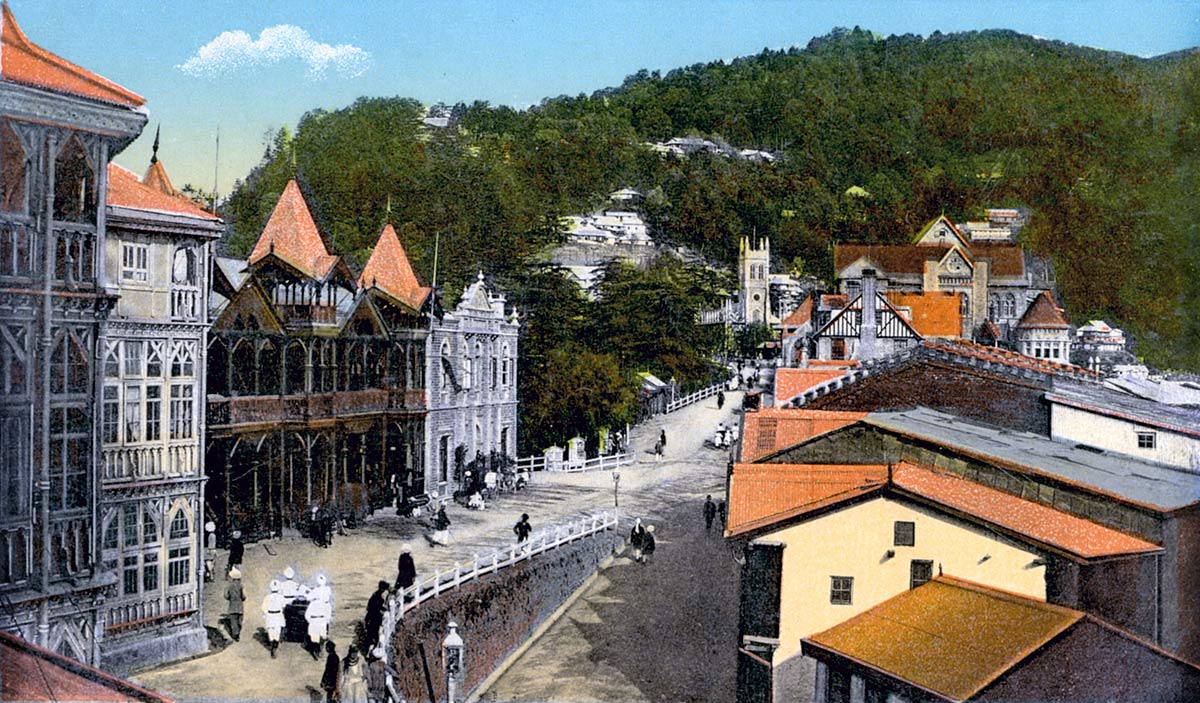 Upper Mall with Church and Post Office, Simla