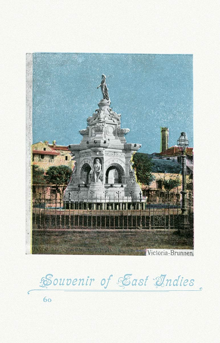 Souvenir of East Indies  Victoria Fountain
