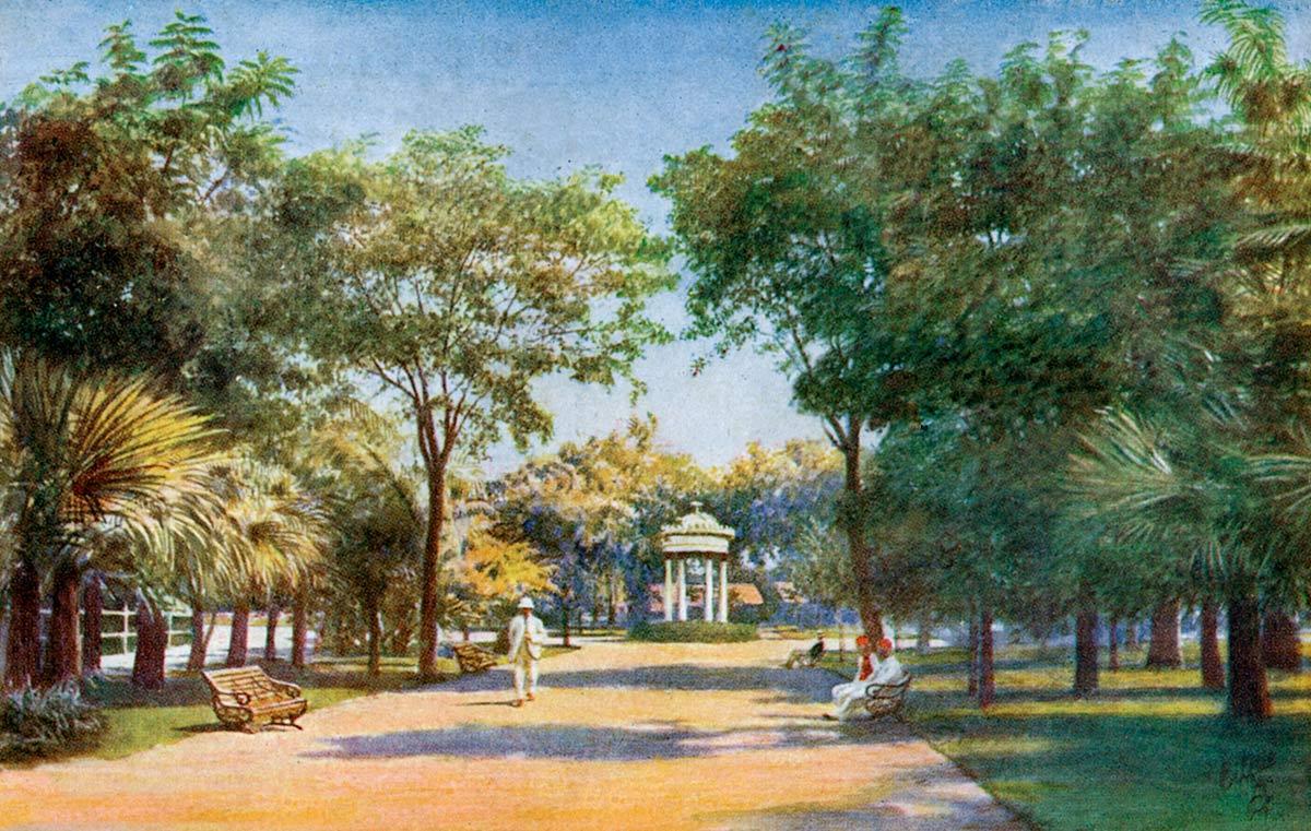 Bombay. A Peep into the Victoria Gardens.