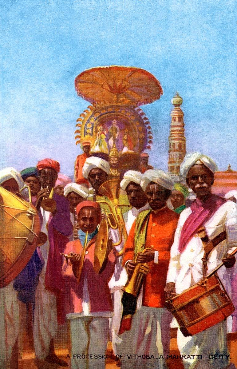 A Procession of Vithaba, a Mahratta Boy